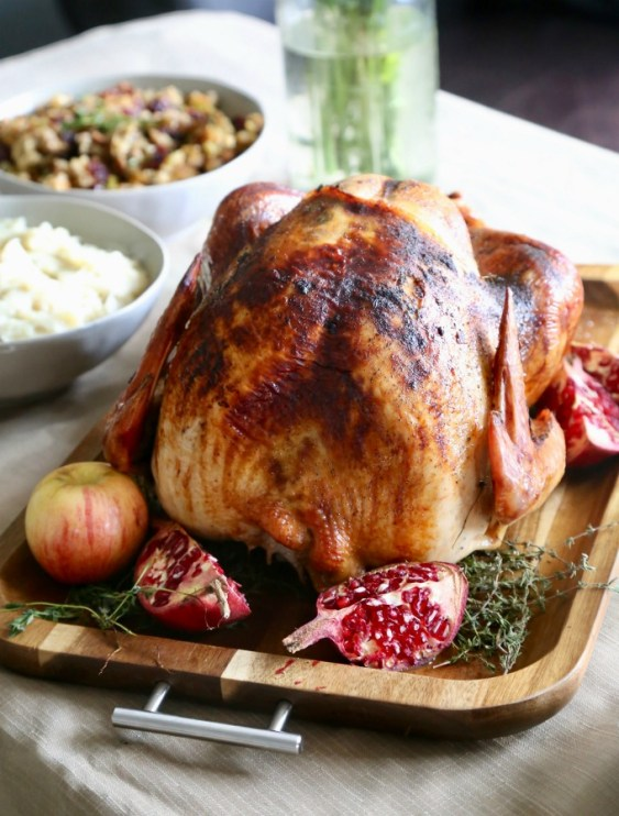 Apple-Thyme-Roasted-Turkey - This Blended Home of Mine - Christmas Dinner Menu