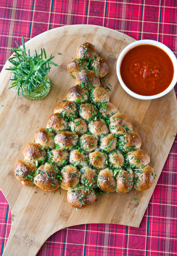 Pull apart Christmas Tree Bread - This Blended Home of Mine - Christmas Dinner Menu