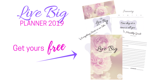 Live Big Planner 2019_ This Blended Home of Mine - Free Printable, Goals 2019 (1)
