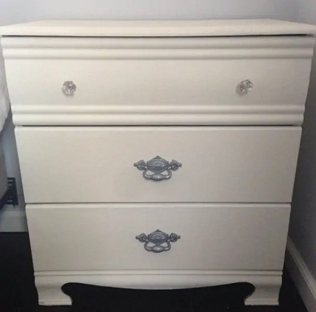 painted laminate nightstand
