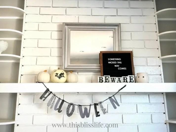 black and white spooky decor