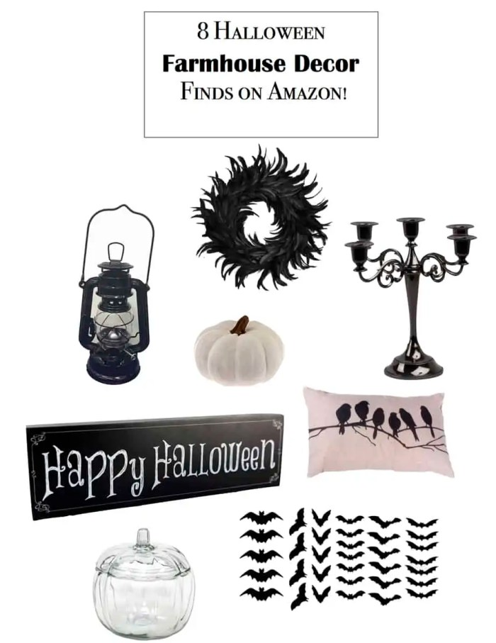 farmhouse halloween finds on amazon
