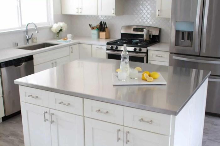 white bright minimalist kitchen