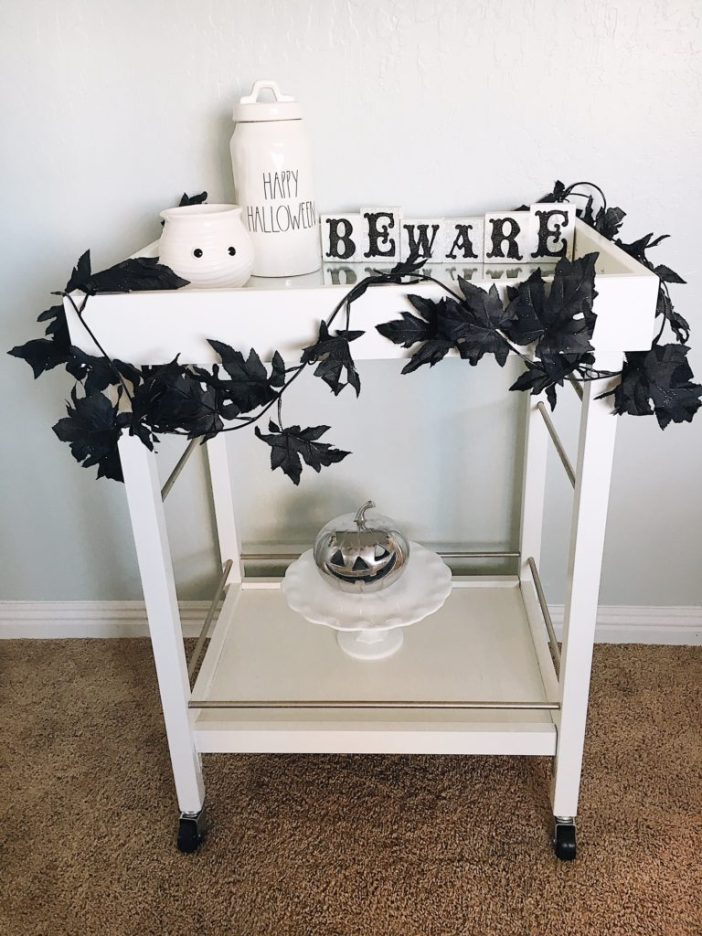 halloween beverage cart