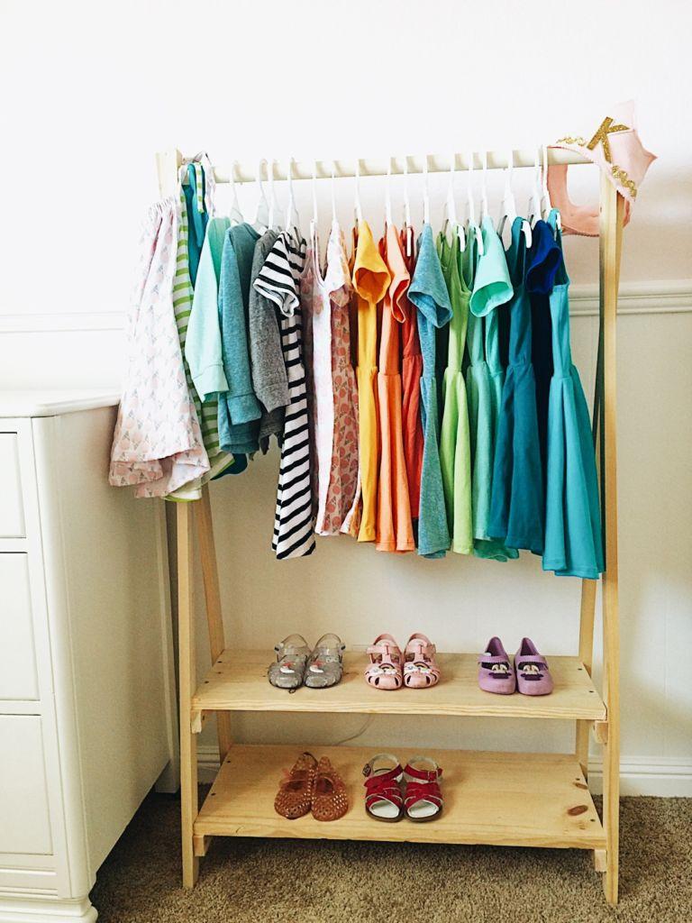 diy kids wood clothing rack this