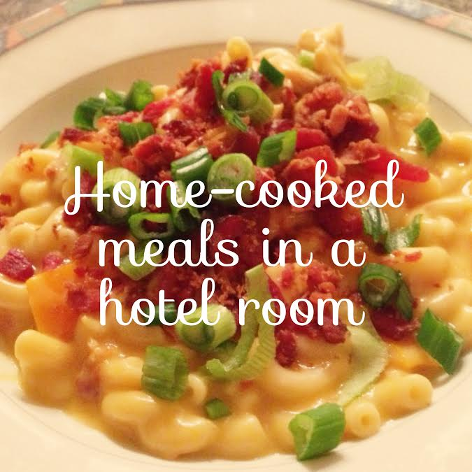 Cooking in a Hotel Room + Extended Stay America Cookbook Giveaway