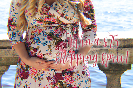 Ivory Floral Maxi Dress | PinkBlush Giveaway