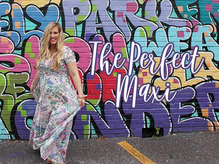 Flowy Floral Maxi + Street Art