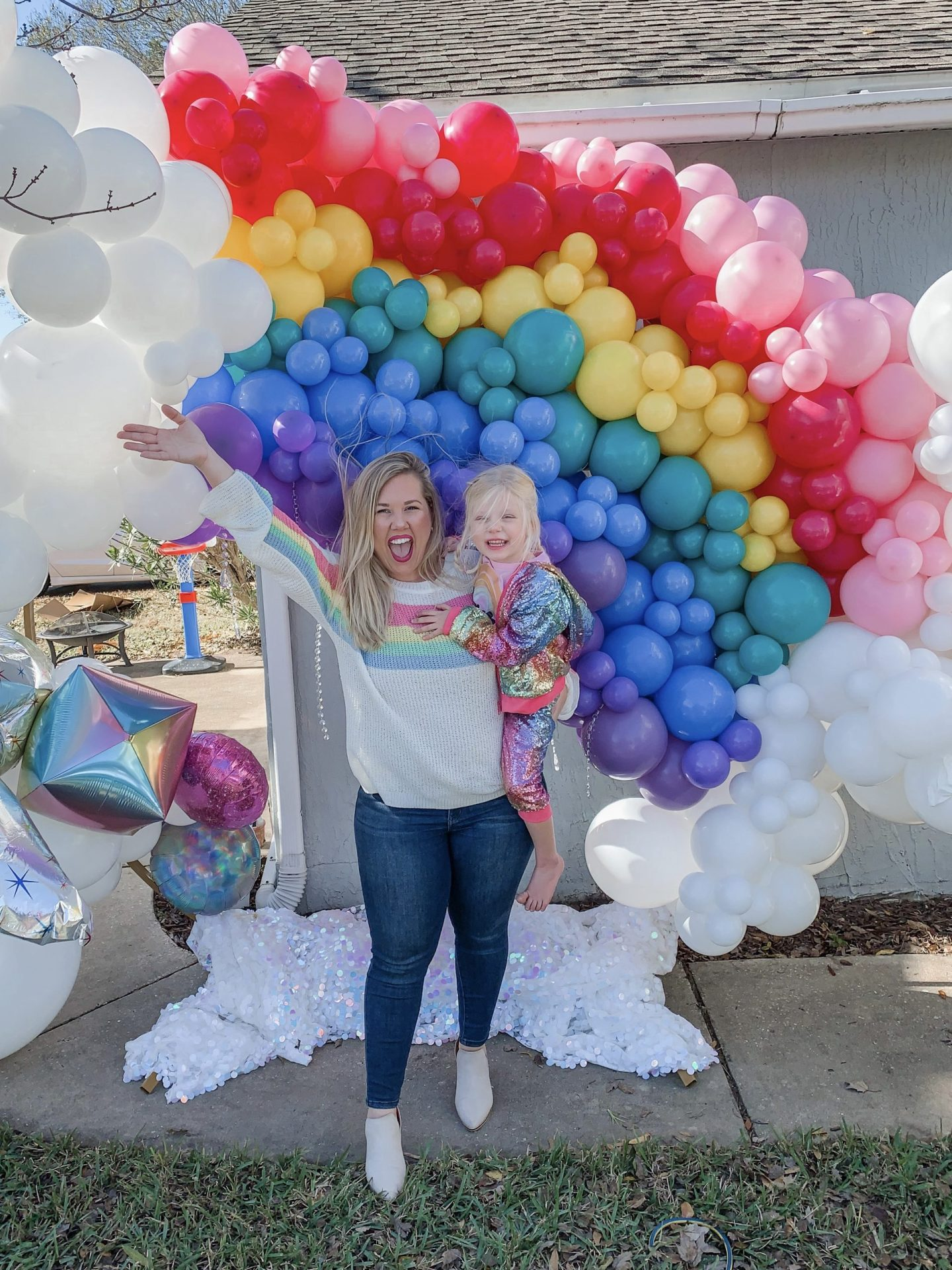 Daisy's 4th Birthday: Rainbow-Themed Party + How We Celebrated During the Pandemic