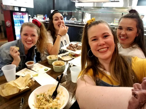 Pre-dance meal at Tacos 180