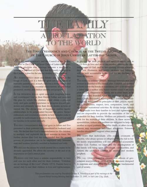 Maegan's beautiful personalized The Family: A Proclamation to the World from Custom Family Proclamations #familyproclamation #lds #customfamilyproclamations
