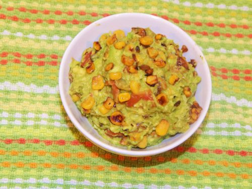 Heaven in a bowl--fire-roasted corn guacamole!