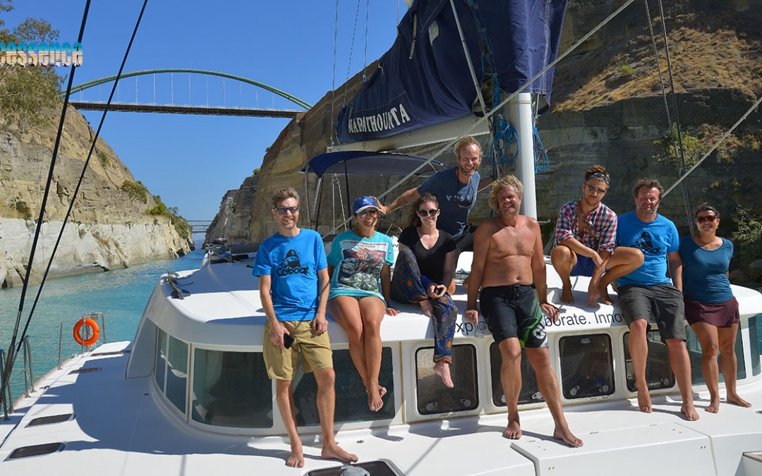 Casting caution to the wind aboard coworking catamaran Coboat
