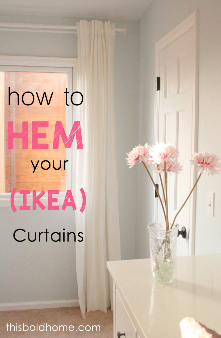 The Easiest Way To Hem Ikea Curtains This Bold Home