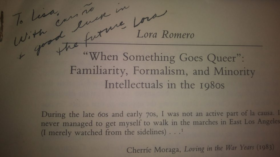 handwritten note by Romero