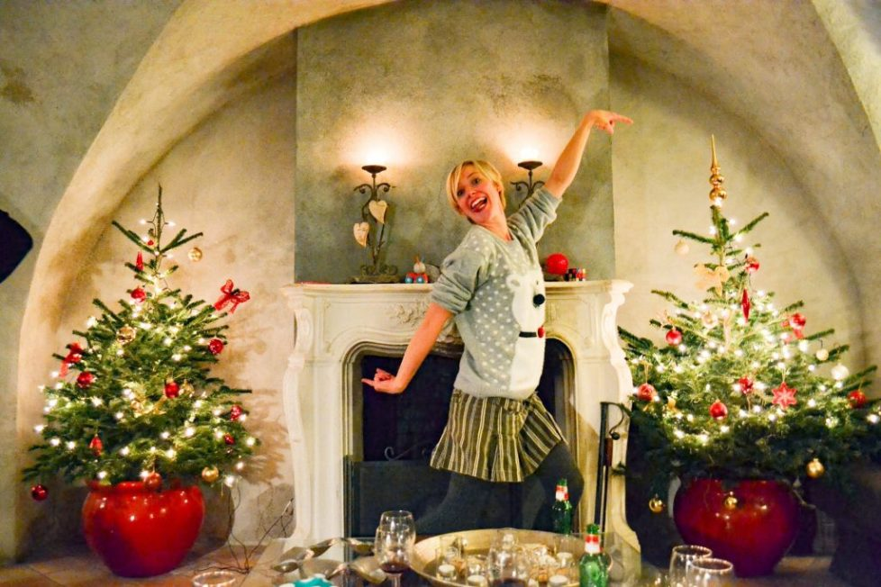 Catered Chalet Vaujany France christmas trees