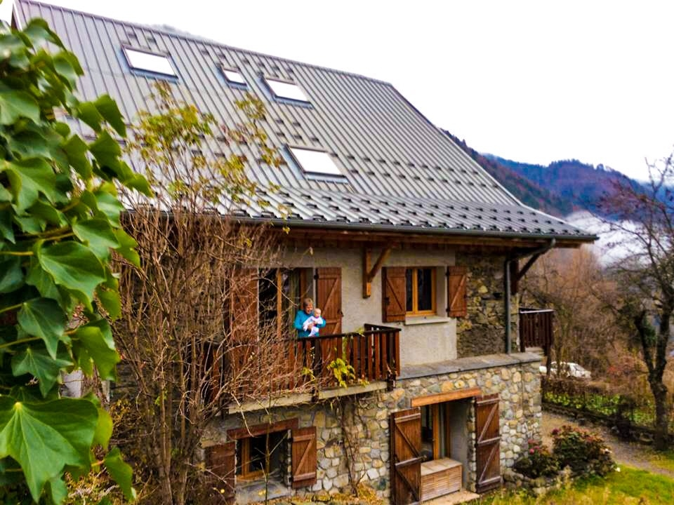 Catered Chalet Vaujany France exterior shot