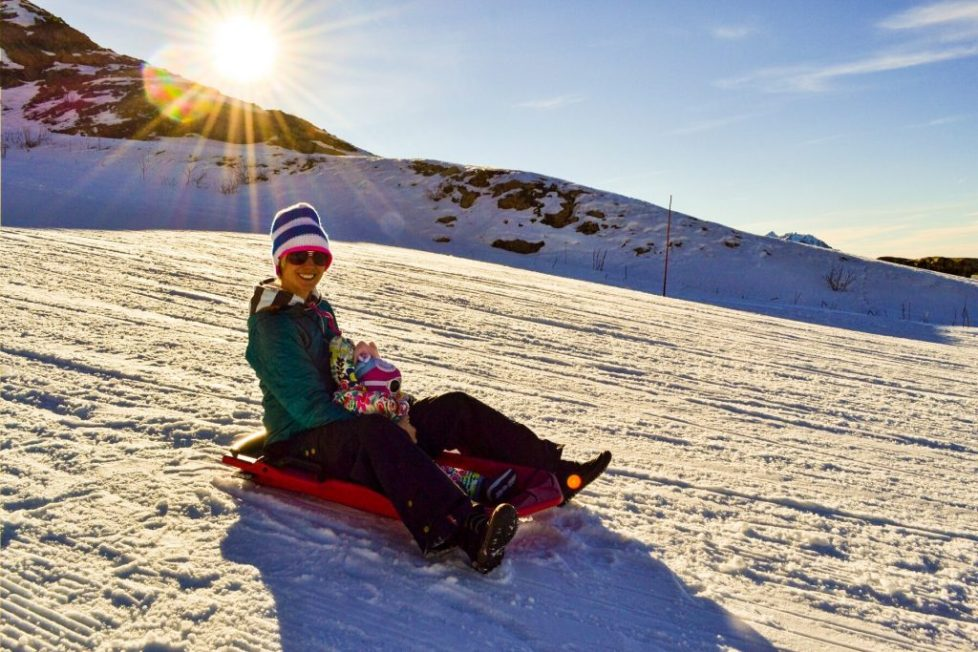 Catered chalet vaujany sledging