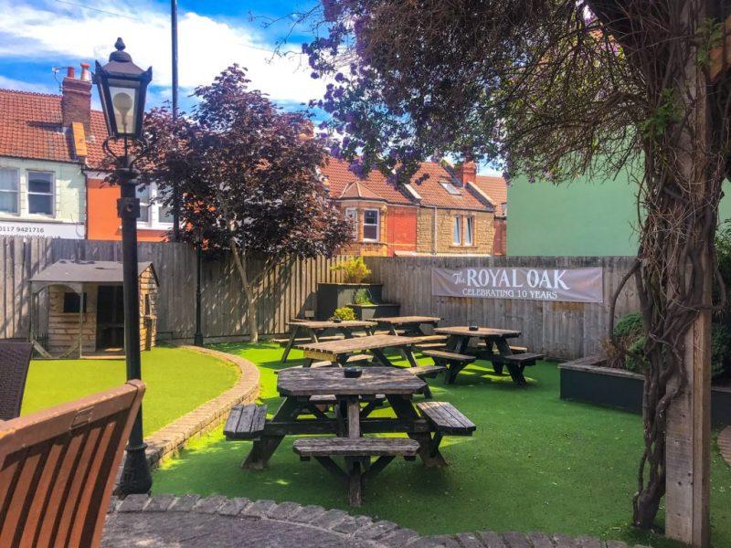 The Royal Oak pub garden with play area