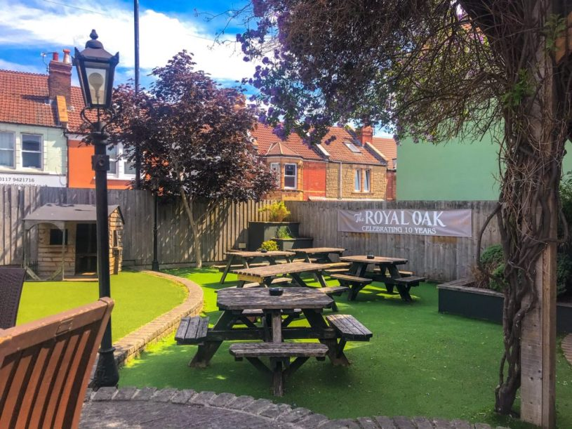 The Royal Oak family-friendly pub garden Bristol
