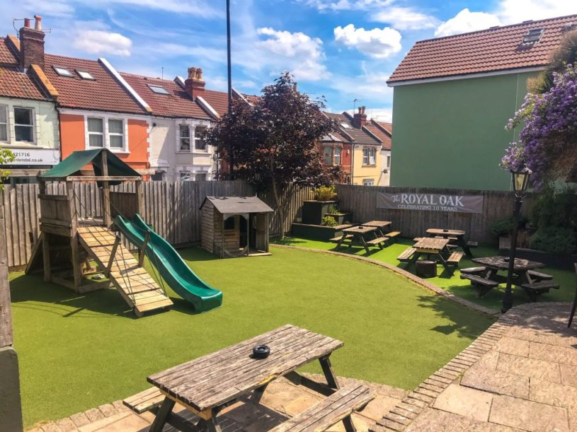 The Royal Oak family-friendly pub with outdoor play area Bristol