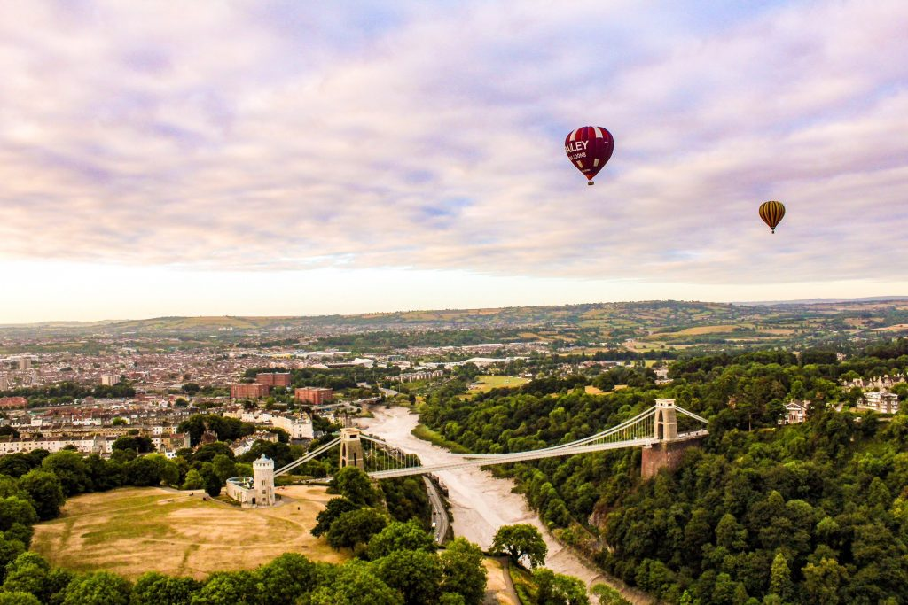 balloons over the downs