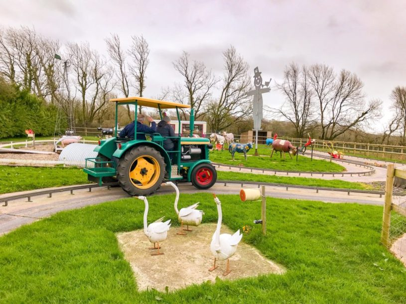 Woodlands family theme park_Tractor ride near kingswear