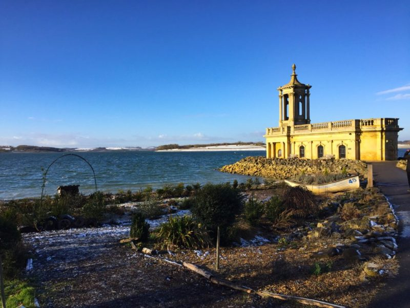 rutland water sunken church