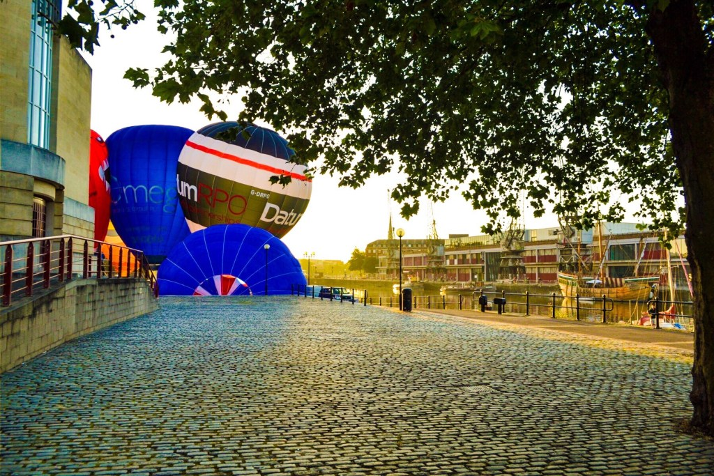 M Shed, hot air balloons bristol harbourside