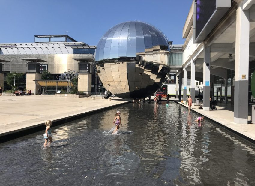fountains at millennium square - 7 ways to cool off in bristol in a heatwave