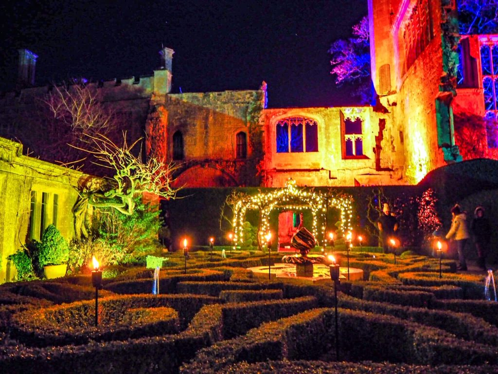 Sudeley Castle Spectacle of Light illuminated maze