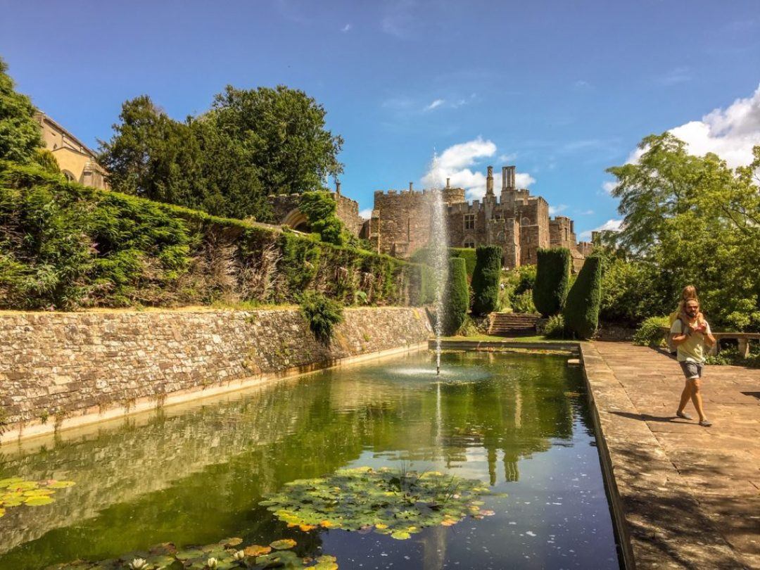 Lily pond at Berkeley Castle_ Just off the motorway
