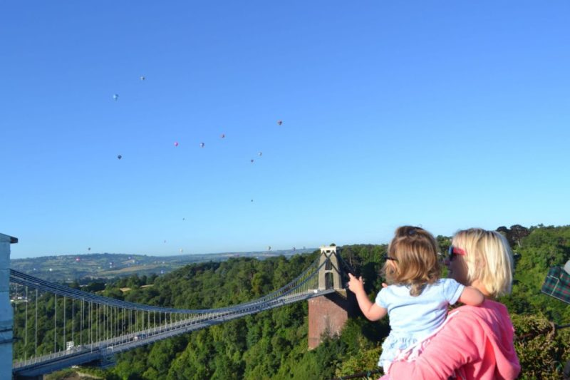 Bristol International Balloon fiesta mass ascent_summer_clifton suspension bridge