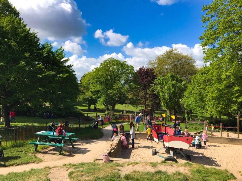 St Andrews Park, sandpit, Bristol