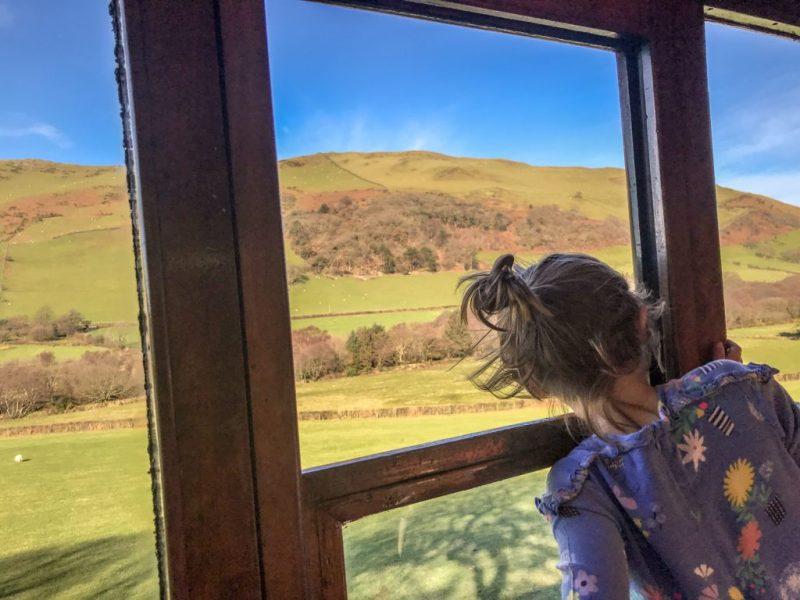 Talyllyn steam railway window views