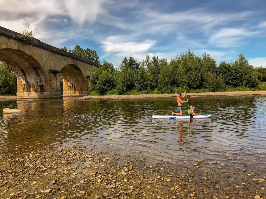 Paddleboarding from Campsites on the Dordogne river