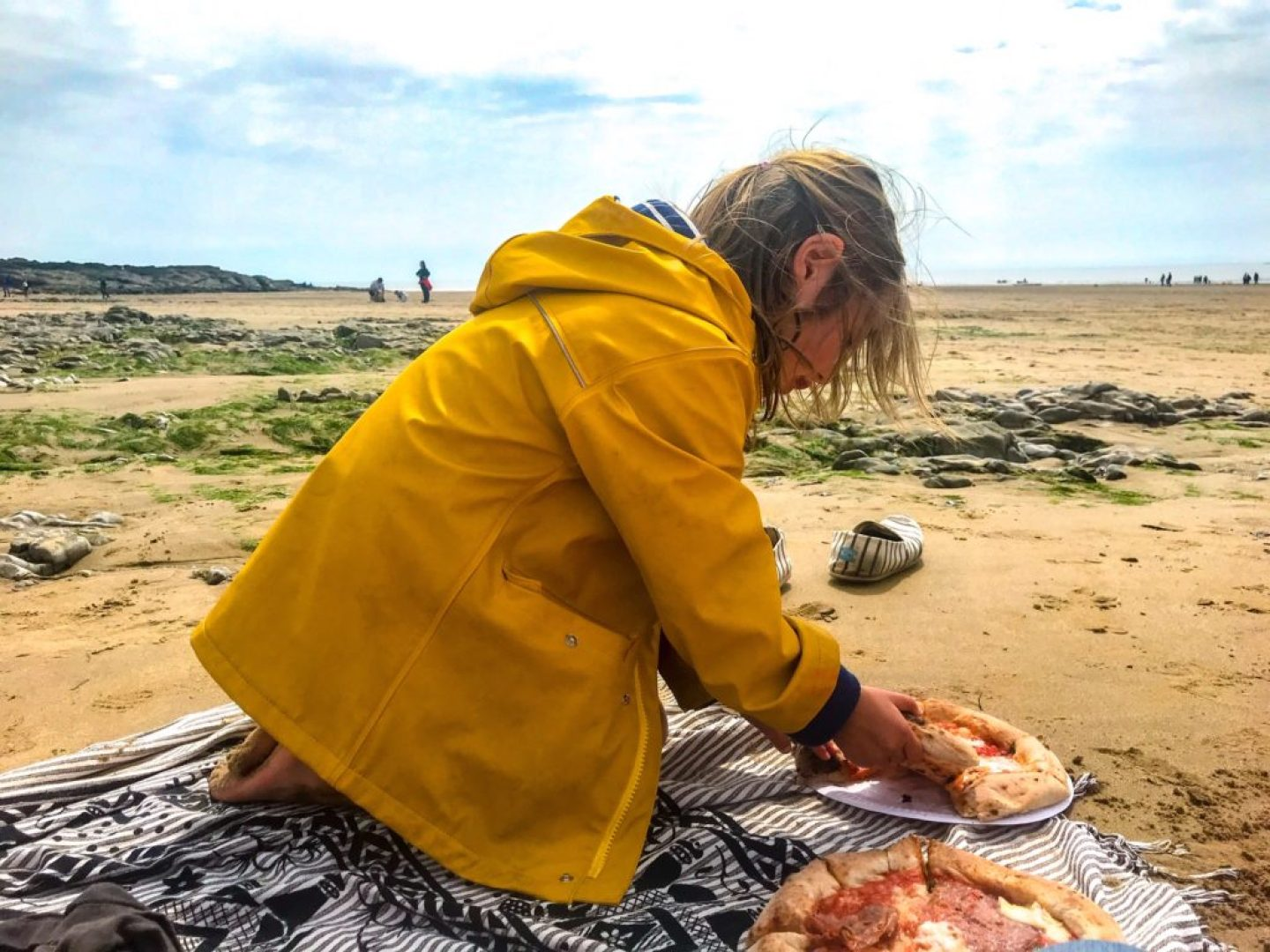 Pizza on the beach Ogmore by Sea, Wales