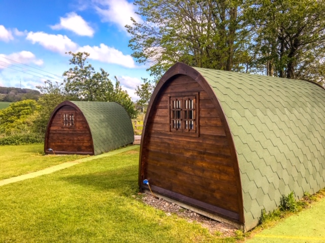 glamping pods at andrewshayes holiday park