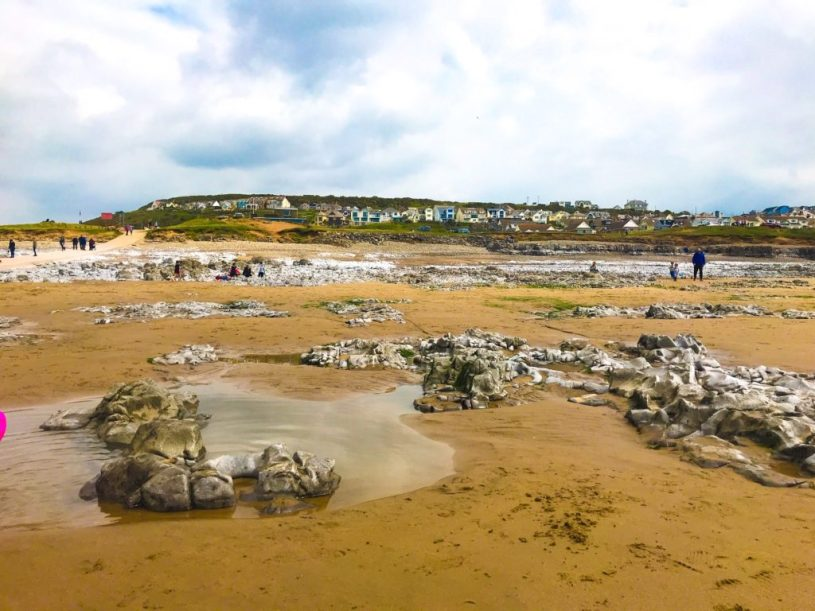 Ogmore by Sea rockpools, Welsh seaside