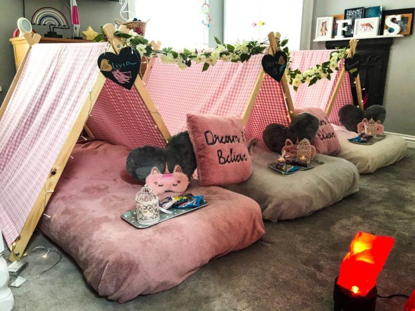 Sleepunder Bristol - childrens sleepover party indoor festival tents