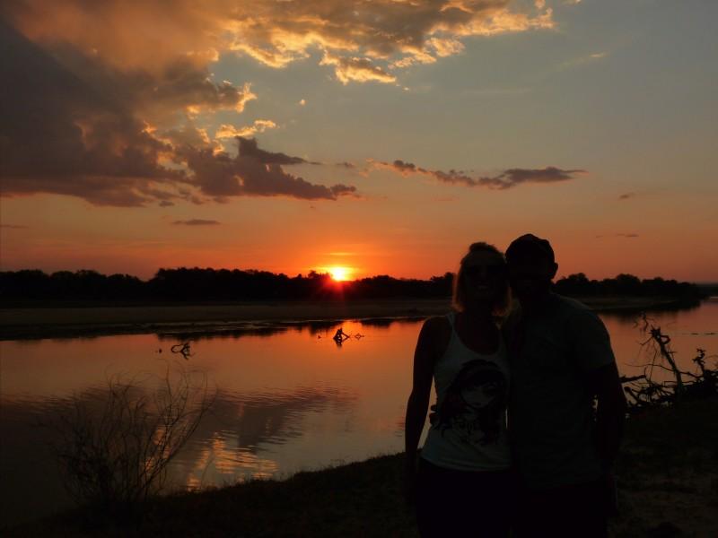 Zambia River Luangwa - sunset