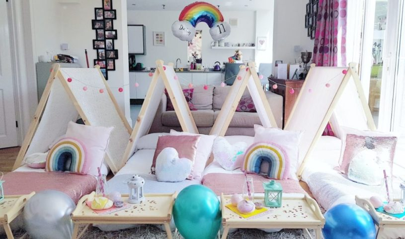 Cotton and Canvas parties - sleepover party indoor festival tents