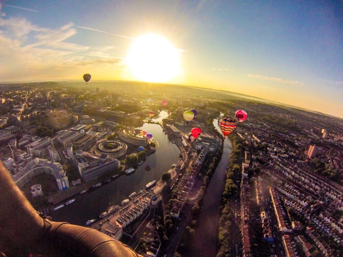 hot air balloons over Bristol