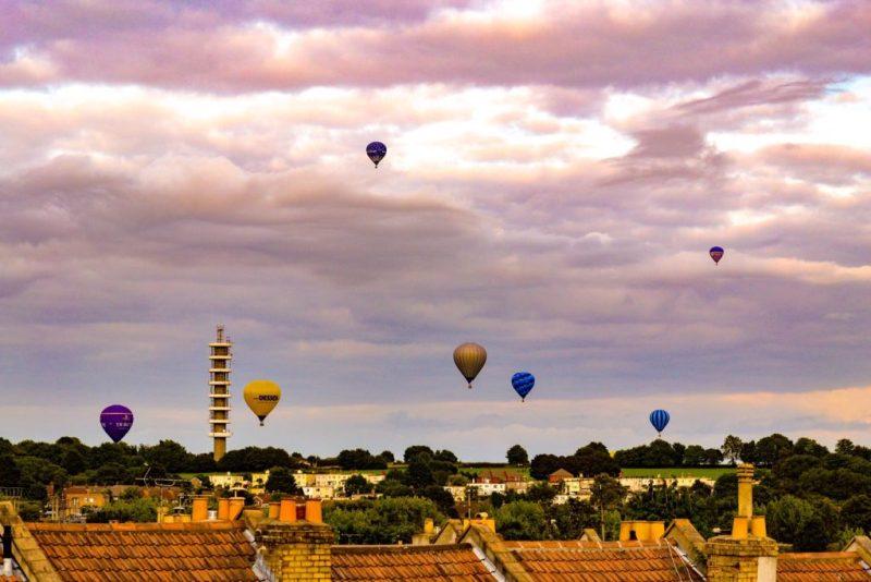 Purdown Horfield BT Tower balloons