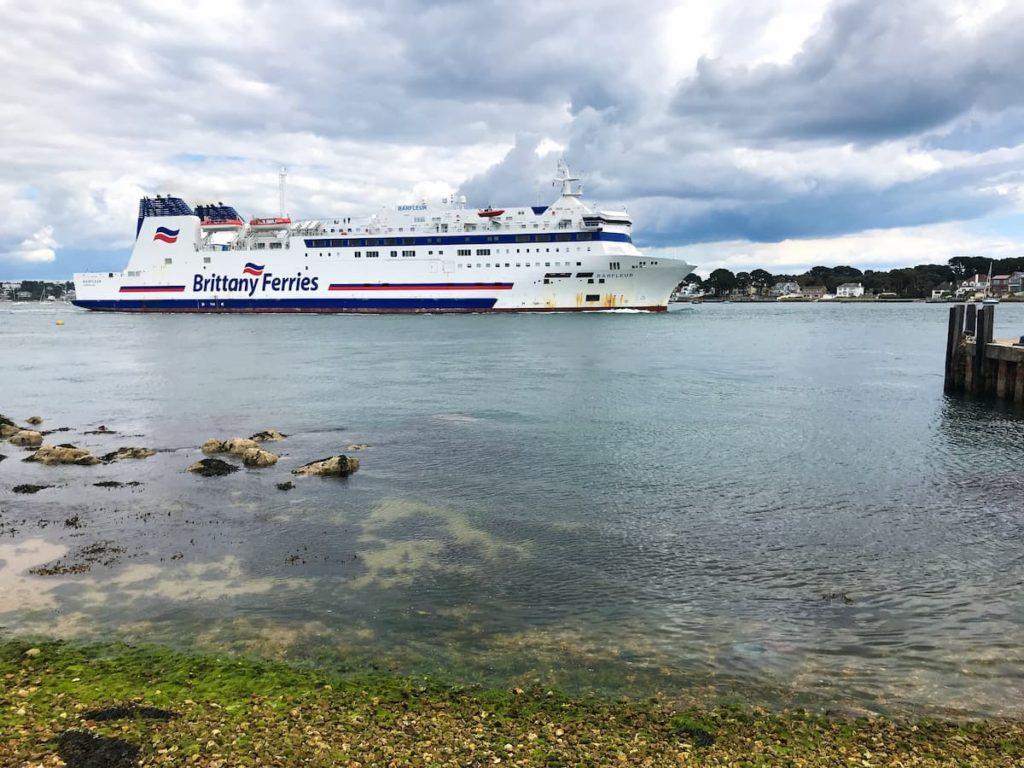 Brittany Ferries Poole crossing Brownsea island