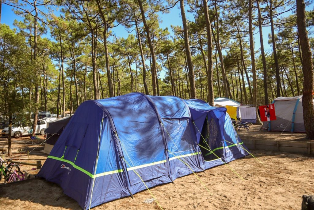 camping adventures in a family air tent