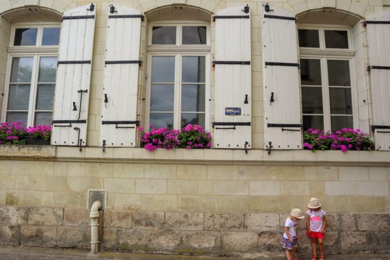 Saumur France shutters and flowers