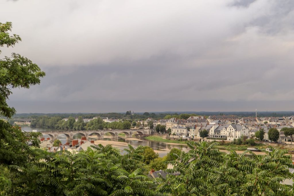 View over Saumur River Loire from Chateau