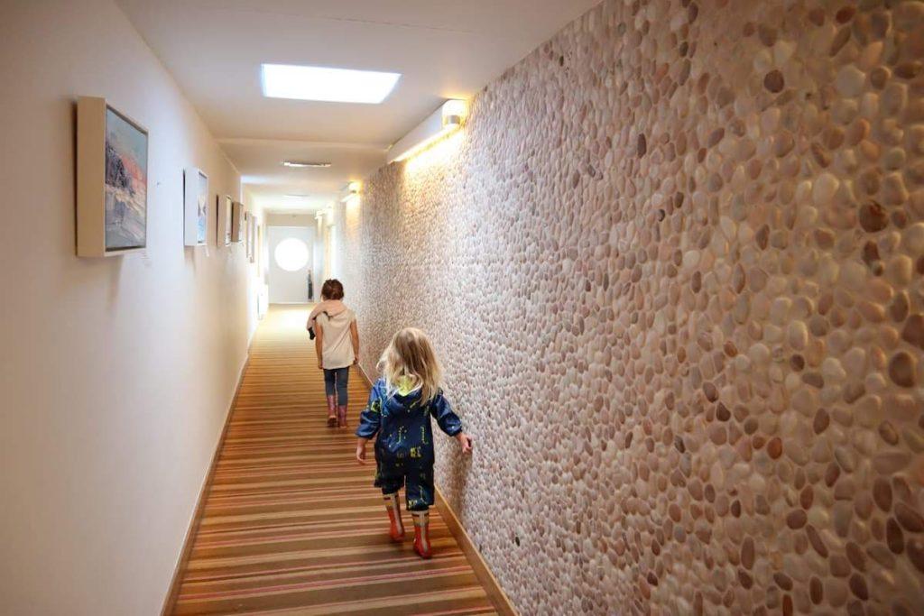 Pebble corridor Bedruthan hotel