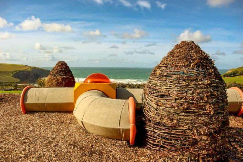 playground overlooking the sea, Bedruthan